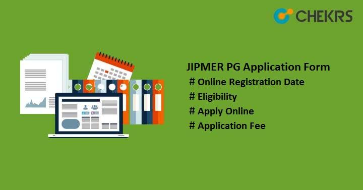 JIPMER PG Application Form