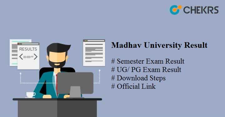 madhav university result