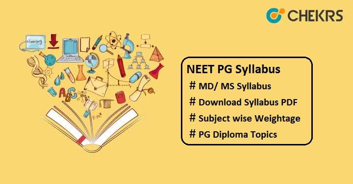 NEET PG Syllabus Pdf Download