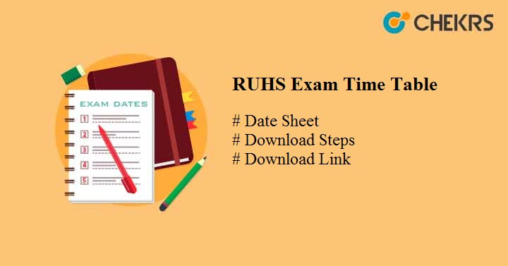 ruhs exam time table