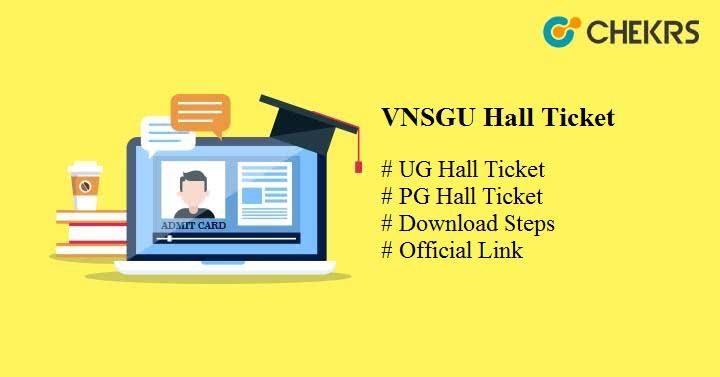 vnsgu hall ticket 2019 vnsgu.ac.in VNSGU Admit Card