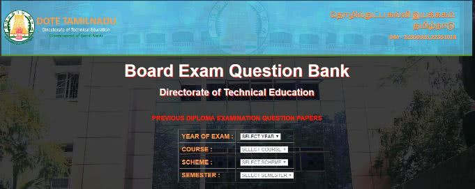 DOTE Diploma Previous Year Question Papers