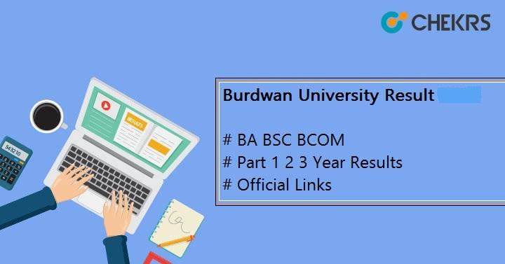 Burdwan University BA BSC BCOM Result 2021