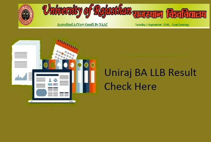 Uniraj BA LLB Result 2021