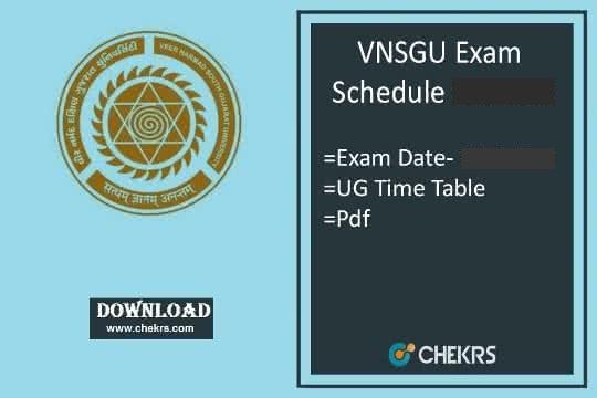 VNSGU Exam Schedule 2021
