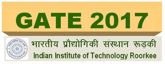 GATE Application Form 2017
