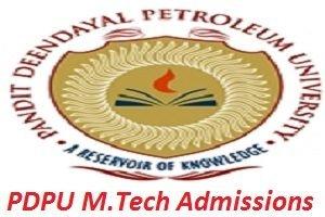 PDPU M.Tech Admissions 2017