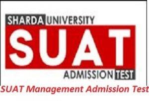SUAT Management Admission Test 2017