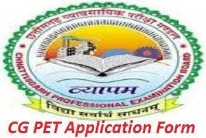 CG PET Application Form 2017