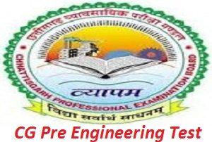 CG Pre Engineering Test 2017