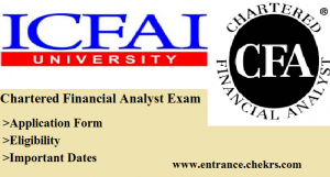 Chartered Financial Analyst Exam(cfa) , application form, eligibility