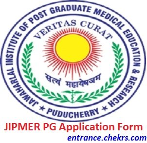 JIPMER PG Application Form 2017