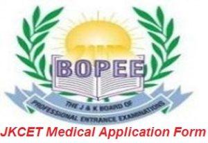 JKCET Medical Application Form