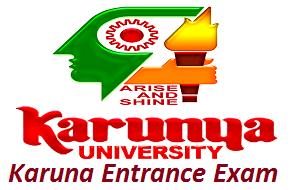 Karunya Entrance Exam 2017