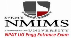 NPAT UG Engg Entrance Exam 2017