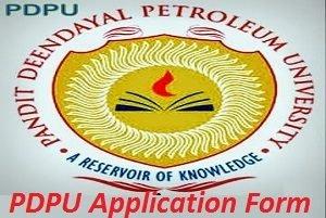 PDPU Application Form 2017