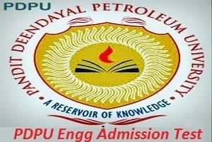 PDPU Engineering Admission Test 2017