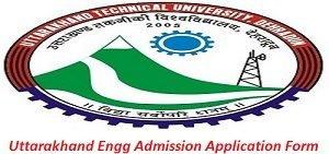 Uttarakhand Engineering Admission Application Form 2017