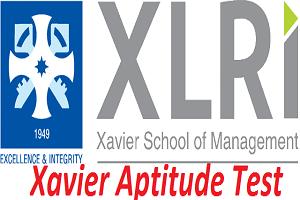 Xavier Aptitude Test 2017