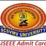 AISEEE Admit Card 2017