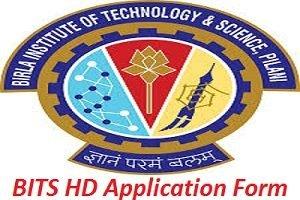 BITS HD Application Form 2017
