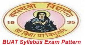 BUAT Syllabus Exam Pattern 2017