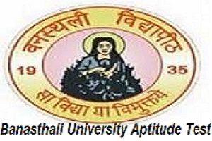 Banasthali University Aptitude Test 2017