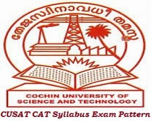 CUSAT CAT Syllabus Exam Pattern 2017