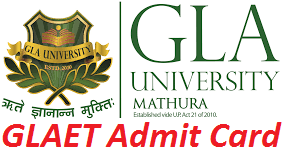 GLAET Admit Card 2017