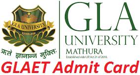 GLAET Admit Card 2017