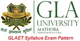 GLAET Syllabus Exam Pattern 2017