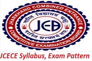 JCECE Syllabus, Exam Pattern 2017
