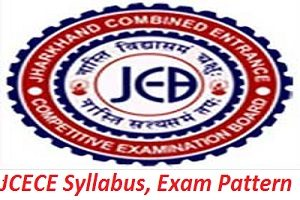 JCECE Syllabus, Exam Pattern 2017