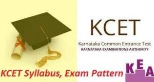 KCET Syllabus, Exam Pattern 2017