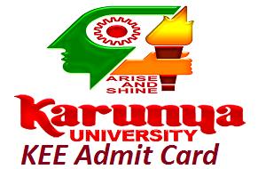 KEE Admit Card 2017