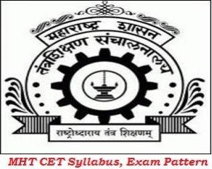 MHT CET Syllabus, Exam Pattern 2017