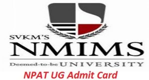 NPAT UG Admit Card 2017