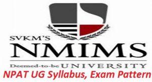 NPAT UG Syllabus Exam Pattern 2017