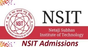 NSIT Admissions 2017