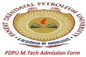 PDPU M.Tech Admission Application Form