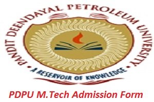 PDPU M.Tech Admission Application Form 2017
