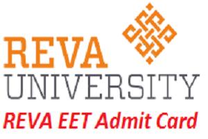 REVA EET Admit Card 2017