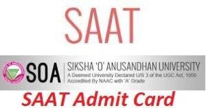 SAAT Admit Card 2017