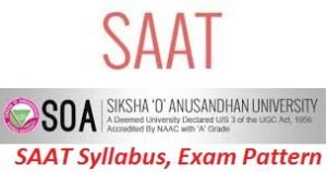 SAAT Syllabus, Exam Patter 2017