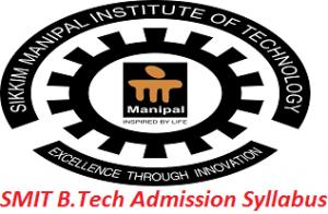 SMIT B.Tech Admission Syllabus, Exam Pattern 2017