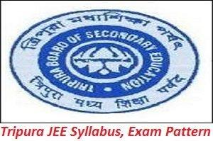 Tripura JEE Syllabus, Exam Pattern 2017