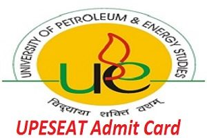 UPESEAT Admit Card 2017