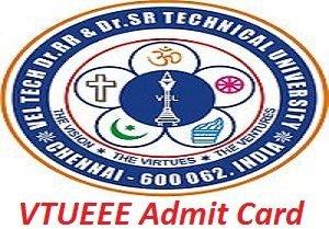 VTUEEE Admit Card 2017