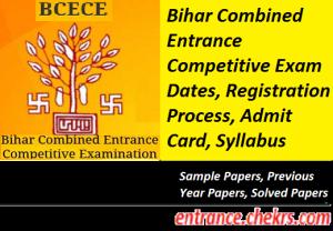 BCECE Online Registration 2017