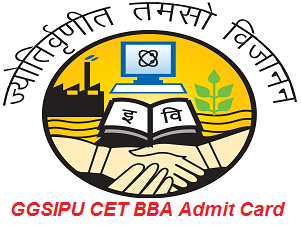 GGSIPU CET BBA Admit Card 2017